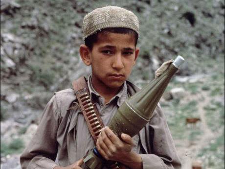 Mujahidin on the Afghan border, Afghanistan, 1984