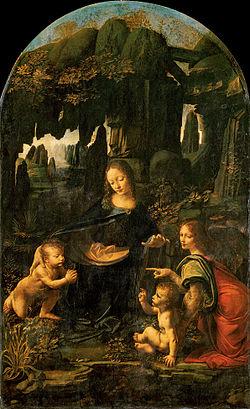 250px-Leonardo_da_Vinci_-_Virgen_de_las_Rocas_(Museo_del_Louvre,_c._1480)