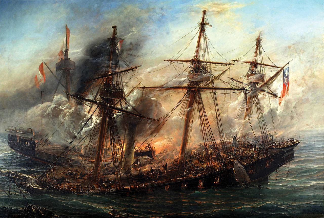 El Combate Naval de Iquique según prensa extranjera